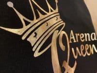 Eliza T Arena Queen Unisex Sweater - Black & Sassy Gold